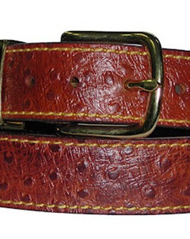 Embossed Rock Steady Belt Ostrich