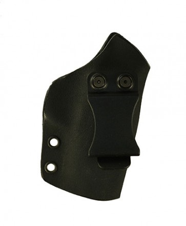 """Direct Hit for a Kimber Micro 9 3.15"""", r/h, Hybrid, Black Kydex, Black Leather Lining, Clip, Canted"""