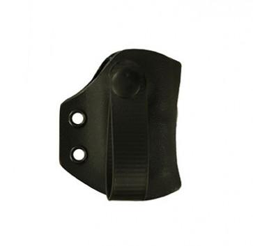 IWB Medium Duty Magazine Carrier for a Glock 26,27,33, r/h reload, Kydex, Black, Straight Drop, Black Webbing Strap