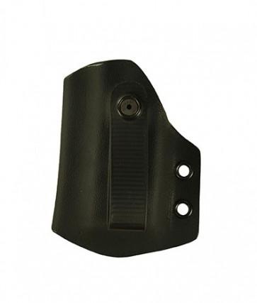 IWB Medium Duty Magazine Carrier for a Glock 19,23,32, l/h reload, Kydex, Black, Straight Drop, Black Webbing Strap