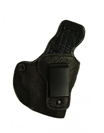 "Exotic Down Under for a Springfield XD 3"", r/h, Cowhide w/ Shark Trim, Black, Clip"