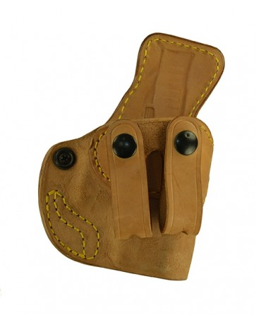 Down Under for a Glock 42, r/h, Horsehide, Natural, Straps