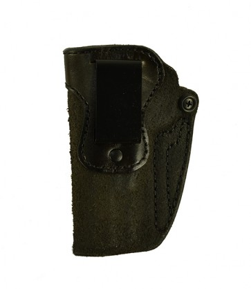 Hideaway for a Browning Hi Power, l/h, Cowhide, Black, Clip