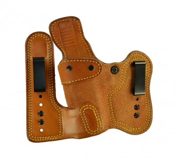 Double Jeopardy for a Glock 17,22,31, l/h, Cowhide, Natural, Clips