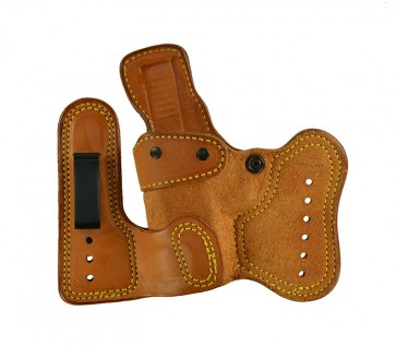 Double Jeopardy for a Glock 19,23,32, l/h, Cowhide, Natural, Clips