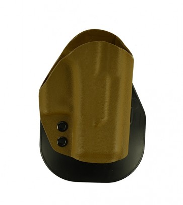 Zero Tolerance Medium for a Glock 26,27, r/h, Kydex, Coyote Brown, Paddle, Straight Drop