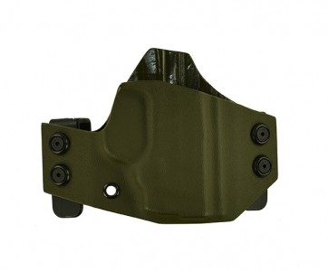 "Hooker for a S&W Bodyguard 380 2.75"" w/ insight laser, r/h, Kydex, OD Green, Straight Drop"