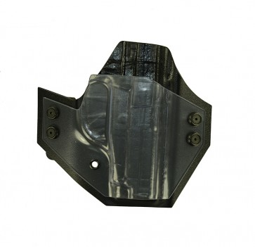 Perimeter for a Sig 239, r/h, Kydex, Ghost (clear) Front/Carbon Fiber Back, Straight Drop
