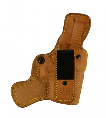 Tail Gate for a Glock 26,27,33, r/h, Cowhide, Natural, Tuckable