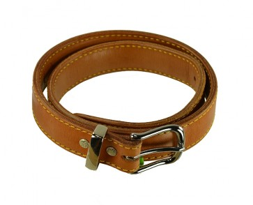 """Rock Steady Belt for a 1-1/2"""" x 40, Cowhide, Natural, Chrome Buckle"""