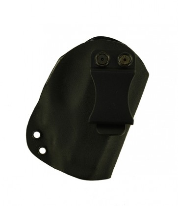 Reaction Lite for a Ruger LC9 w/ Crimson Trace Laser, r/h, Kydex, Black, Canted, Clip