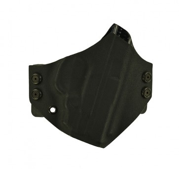 """Baseline for a S&W M&P Shield w/ Crimson Trace Laser 3.1"""", r/h, Kydex, Black, Canted"""