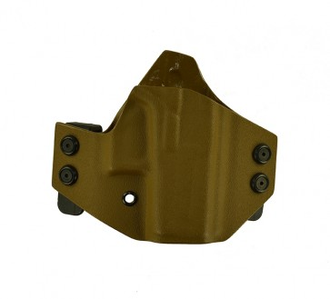 Hooker for a Glock 43, r/h, Kydex, Coyote Brown, Straight Drop