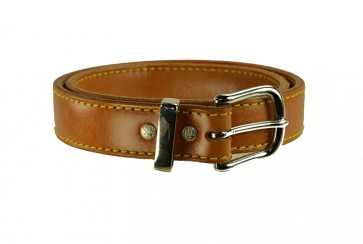 "Rock Steady Belt for a 1-1/2"" x 38, Cowhide, Natural, Chrome Buckle"