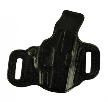 Slide Guard for a Glock 43 w/ Crimson Trace Laser, r/h, Cowhide, Black, Lined