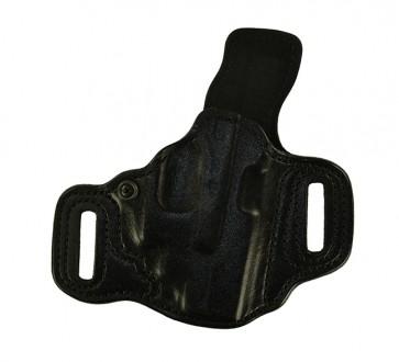 Slide Guard for a Glock 19 w/ Crimson Trace Laser, r/h, Cowhide, Black, Lined