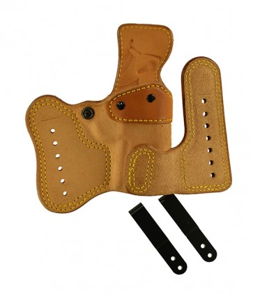 Double Jeopardy for a S&W 3913, r/h, Cowhide, Natural, Clip
