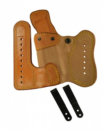 """Double Jeopardy for a Sig 226 w/ Rail 4.4"""", l/h, Cowhide, Natural, Clip"""