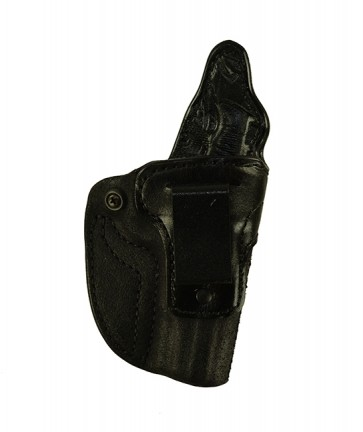"""Down Under for a Browning 1911 380 Black Label 4"""" no rail, r/h, Cowhide, Black, Clip"""
