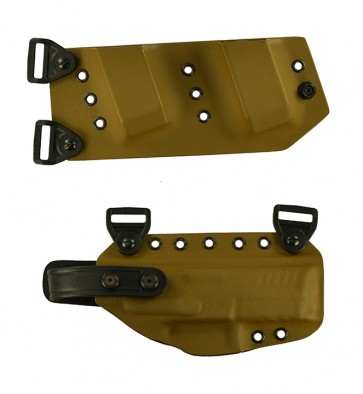 """Equalizer for a H&K VP9 SK 3.39"""", r/h, Kydex, Coyote Brown with harness"""