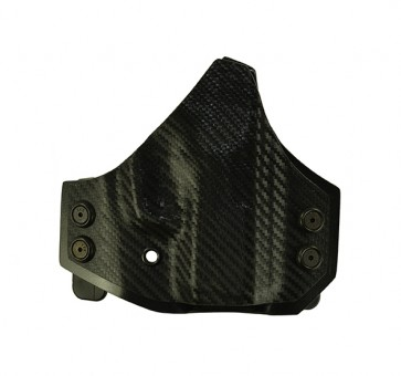 Perimeter for a Kahr PM 9, r/h, Kydex, Carbon Fiber Front, Black Back, Straight Drop