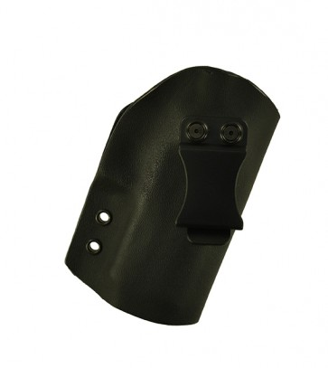 """Direct Hit for a Sig 320C 3.9"""", r/h, Hybrid, Black Kydex, Black Leather Lining, Clip, Canted"""
