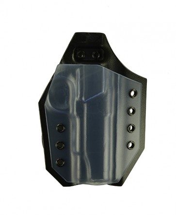 Victory for a Colt 1911 Commander, r/h, Kydex, Clear Front, Black Back, Straight Drop