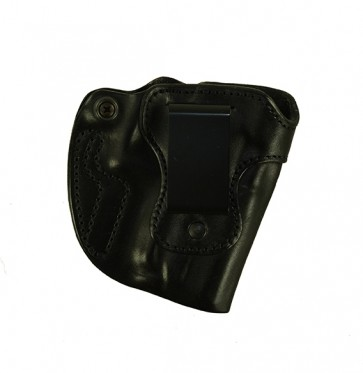 """Bare Necessity for a H&K Compact 3.58"""", r/h, Cowhide - smooth side out, Black, Clip"""