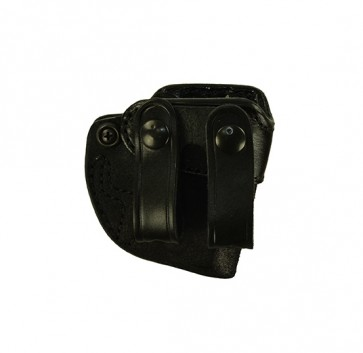 Bare Necessity for a S&W Bodyguard 380, r/h, Cowhide, Black, Straps