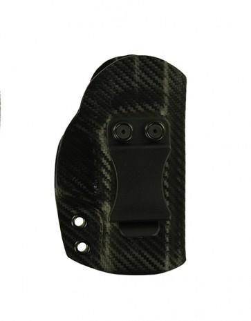 "Reaction Extreme for a S&W M&P Shield 3.1"", r/h, Kydex, Carbon Fiber, Straight Drop, Clip"