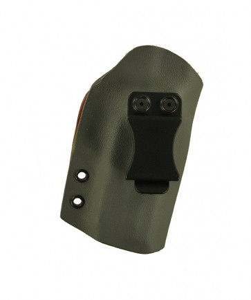 """Direct Hit for a Sig 229 Legion 3.9"""", r/h, Hybrid, Gray Kydex, Natural Leather Lining, Canted, Clip"""