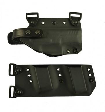"""Equalizer for a H&K VP9 SK 3.39"""", r/h, Kydex, Black with harness"""