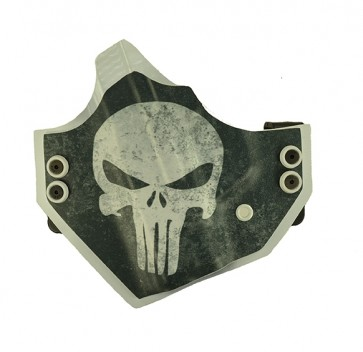 "Punisher for a S&W M&P Shield 3.1"", l/h, Kydex, Black/White, Canted"