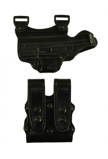 """Under Taker for a Springfield XD 4"""", r/h, Cowhide, Black, Lined"""
