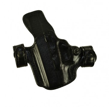 Snapper for a Glock 26,27,33, l/h, Cowhide, Black, Lined