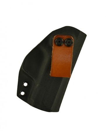 """Reaction Lite for a S&W M&P Shield 3.1"""", r/h, Kydex, Black, Leather Strap, Canted"""