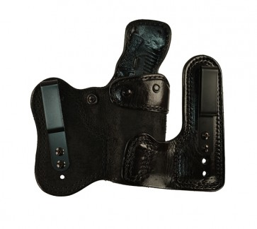 Double Jeopardy for a Glock 17,22,31, r/h, Cowhide, Black, Clips