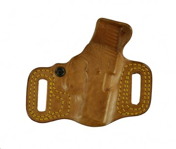 """Slide Guard for a Kahr MK, PM, CM 3"""", r/h, Horsehide, Natural - Rough Side Out"""
