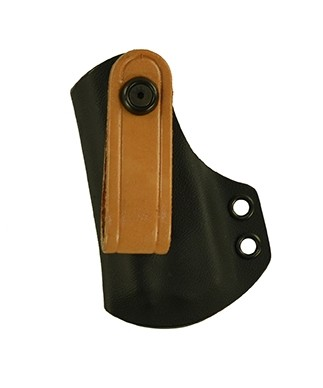 IWB Medium Duty Magazine Carrier for a Sig 229, l/h, Kydex, Black, Canted, Natural Strap