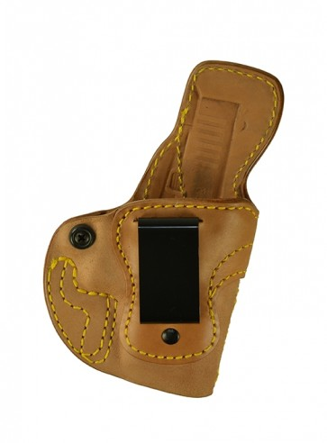 Down Under for a Glock 43, r/h, Horsehide, Natural, Clip