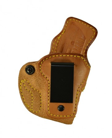 Down Under for a Ruger LCP380, r/h, Cowhide, Natural, Clip