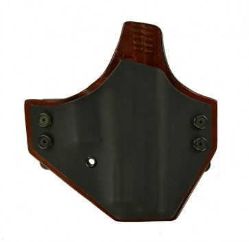 "Integrator for a Springfield XD 9 or 40 4"", r/h, black Kydex with tan leather rear panel"