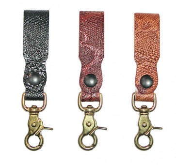Embossed Python Key Chain