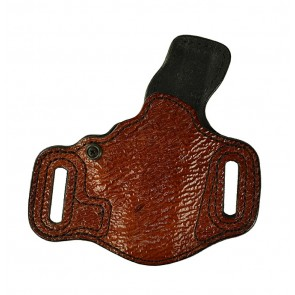 Slide Guard for a Glock 29,30, r/h, Cowhide, Burnt Orange, Shark Embossed, Lined