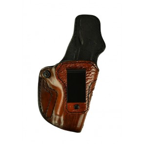 "Down Under for a Sig 1911 3.3"", r/h, Cowhide, Antique, Burnt Orange w/ Shark Embossed Trim, Clip"