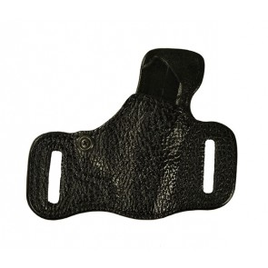 Exotic Slide Guard for a Ruger LCP 380, r/h, Black, Shark Leather Lined Front, Cowhide Unlined Back