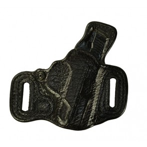 "Exotic Slide Guard for a S&W M&P Shield 3.1"", r/h, Black, Bison Leather Lined Front, Cowhide Leather Lined Back"