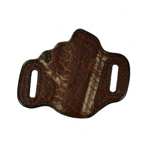Exotic Topless for a Glock 19,23,32, r/h, Brown Bison Leather Lined Front, Black Horsehide Back