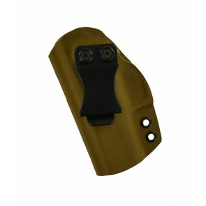Reaction Lite for a Glock 43, 43X, l/h, Kydex, Coyote Brown, Canted, Clip