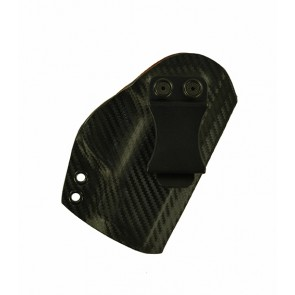 """Direct Hit for a S&W M&P Shield 3.1"""", r/h, Hybrid, Carbon Fiber Kydex, Natural Leather Lining, Canted, Clip"""